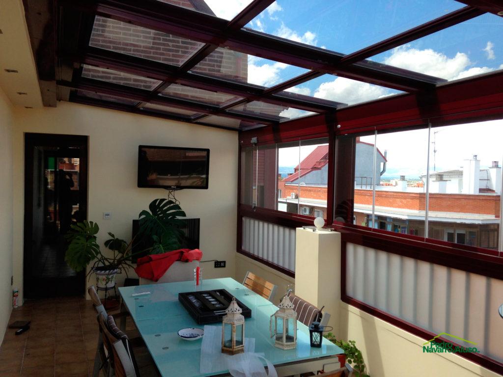 Trabajos realizados en techos m viles - Techos moviles para patios ...